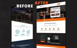 Before and after web development process