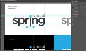 Screenshot of brand logo standards