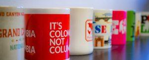 selection of internationally themed mugs at ContextWest