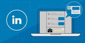 Illustration of LinkedIn feed and data