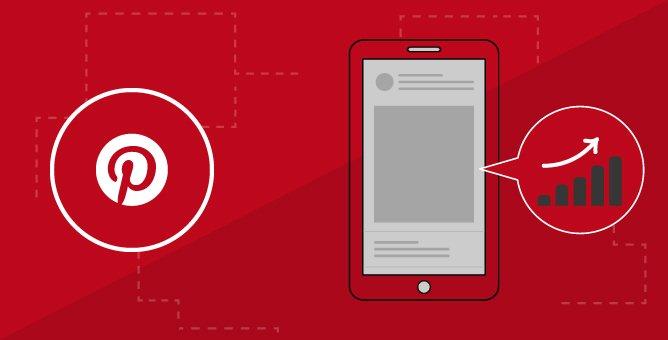 Illustration of Pinterest post and data