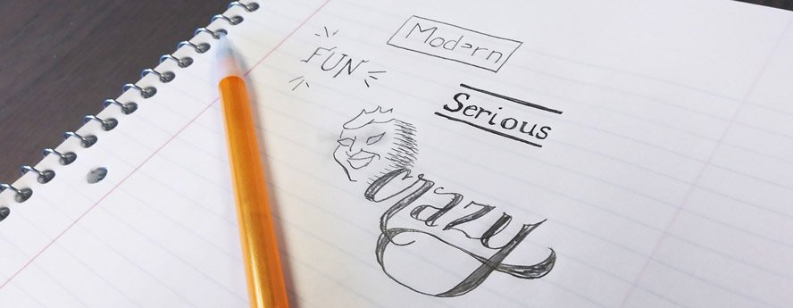 Sketches of different brand styles