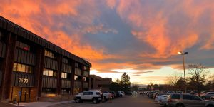 Beautiful sunset at the ContextWest Office